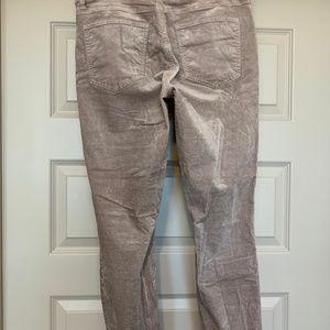 LOFT Pants - LOFT Velvet Cream Skinny Pants/Jeans